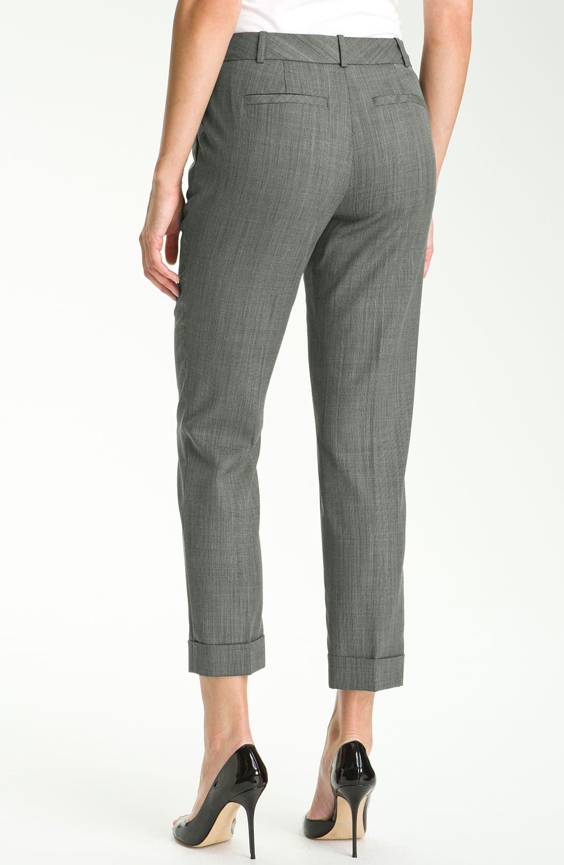Alternate Image 2  - Classiques Entier® 'Minuet' Textured Ankle Pants