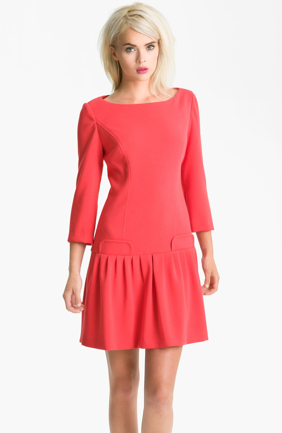 Alternate Image 1 Selected - Eliza J Seam Detail Drop Waist Dress