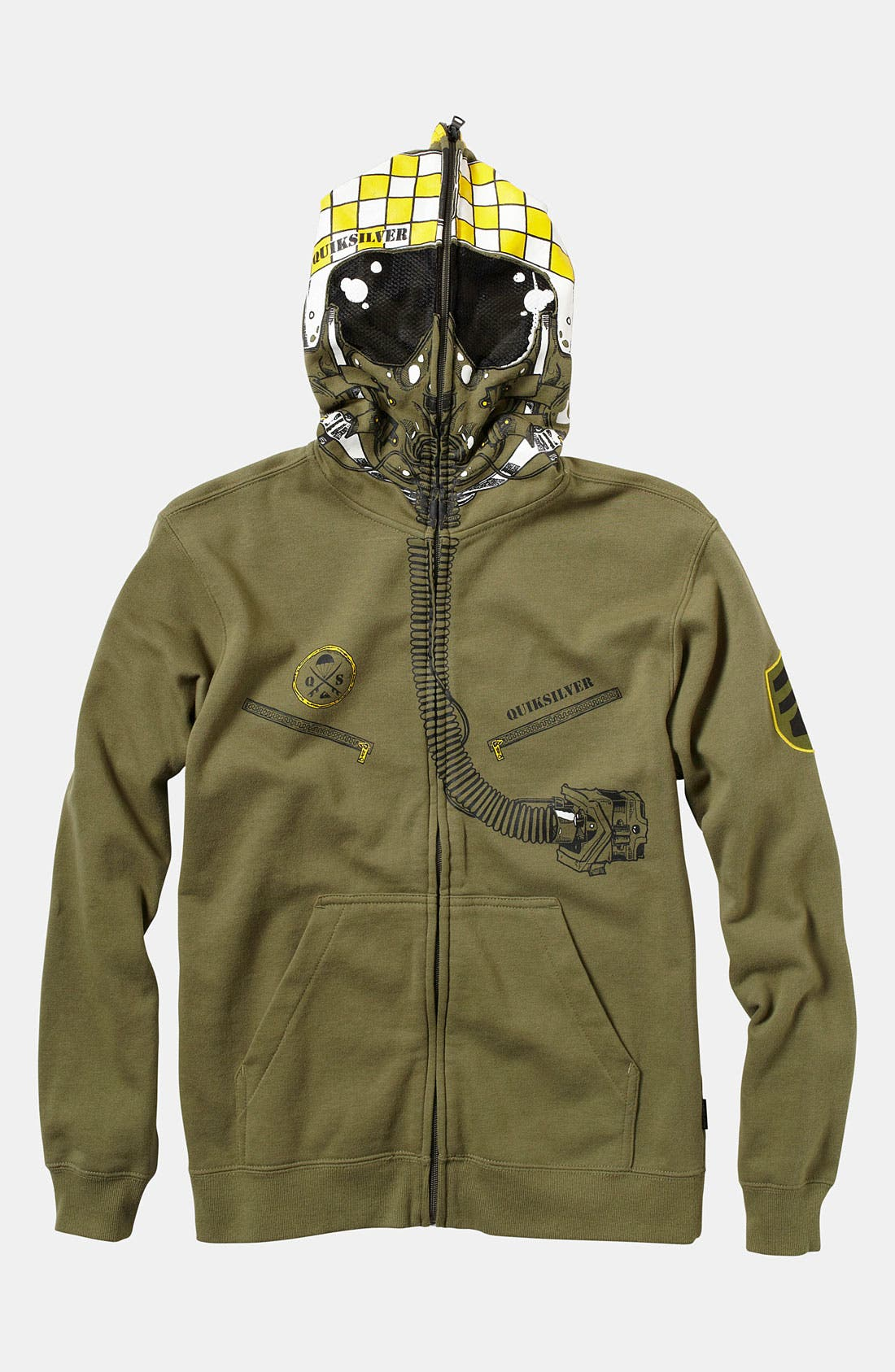 Alternate Image 1 Selected - Quiksilver 'Masquerade' Mask Hoodie (Big Boys)