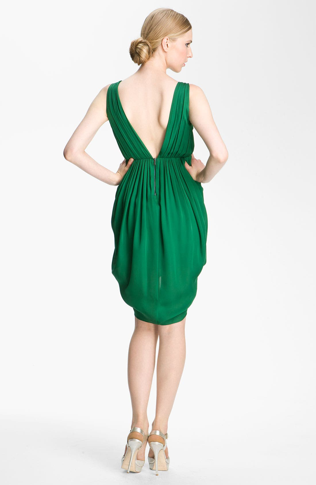 Alternate Image 2  - Alice + Olivia 'Marielle' Draped Silk Sleeveless Dress