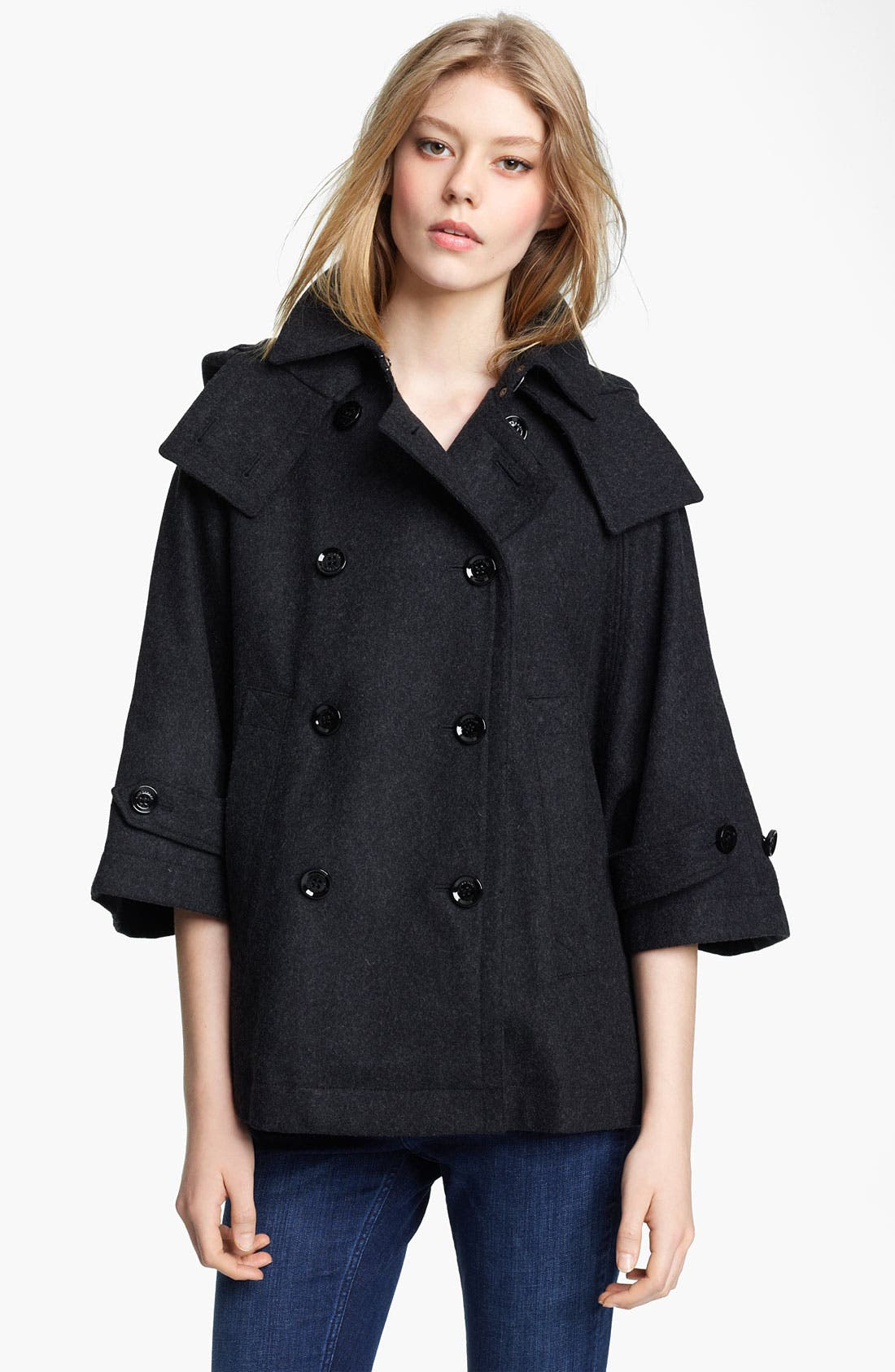 Alternate Image 1 Selected - Burberry Brit Hooded Cape (Online Exclusive)