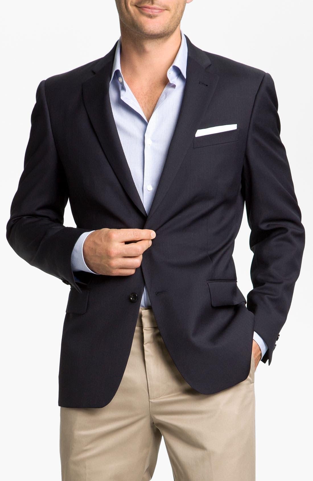 Alternate Image 1 Selected - John Varvatos Star USA 'Loft' Trim Fit Wool Jacket