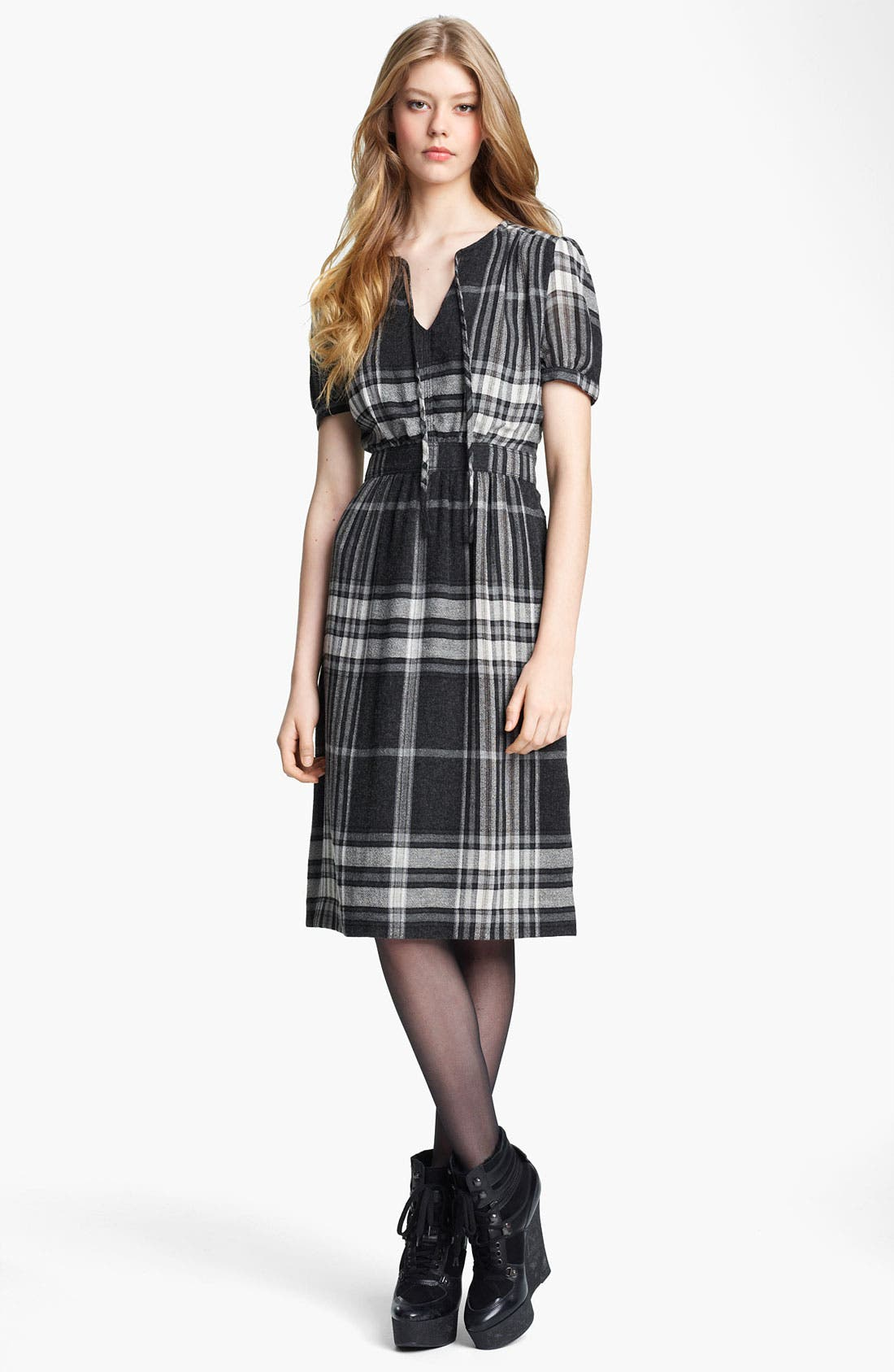 Alternate Image 1 Selected - Burberry Brit Check Print Dress