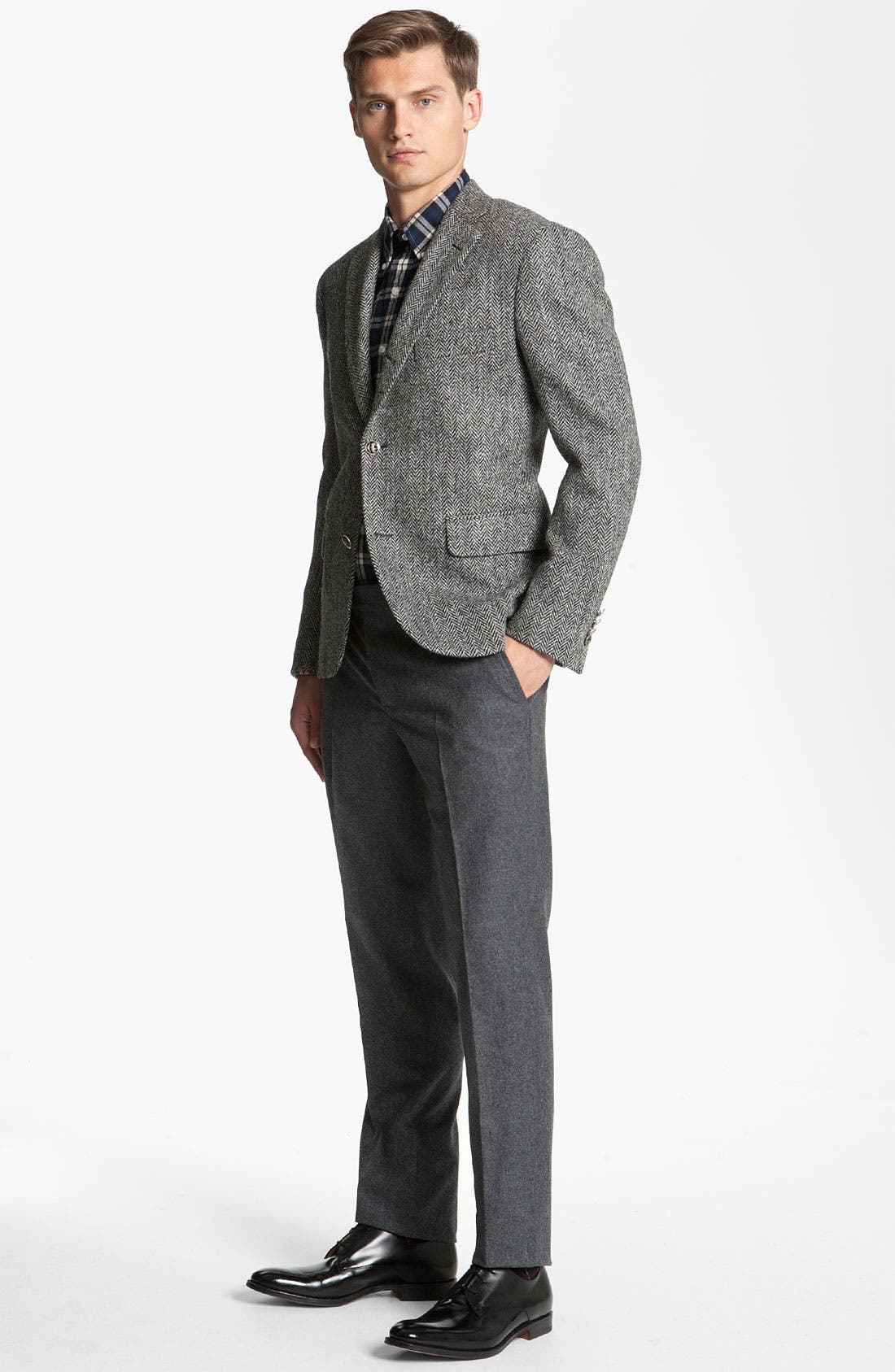 Alternate Image 4  - Brooks Brothers by Jeffrey Tweed Herringbone Blazer