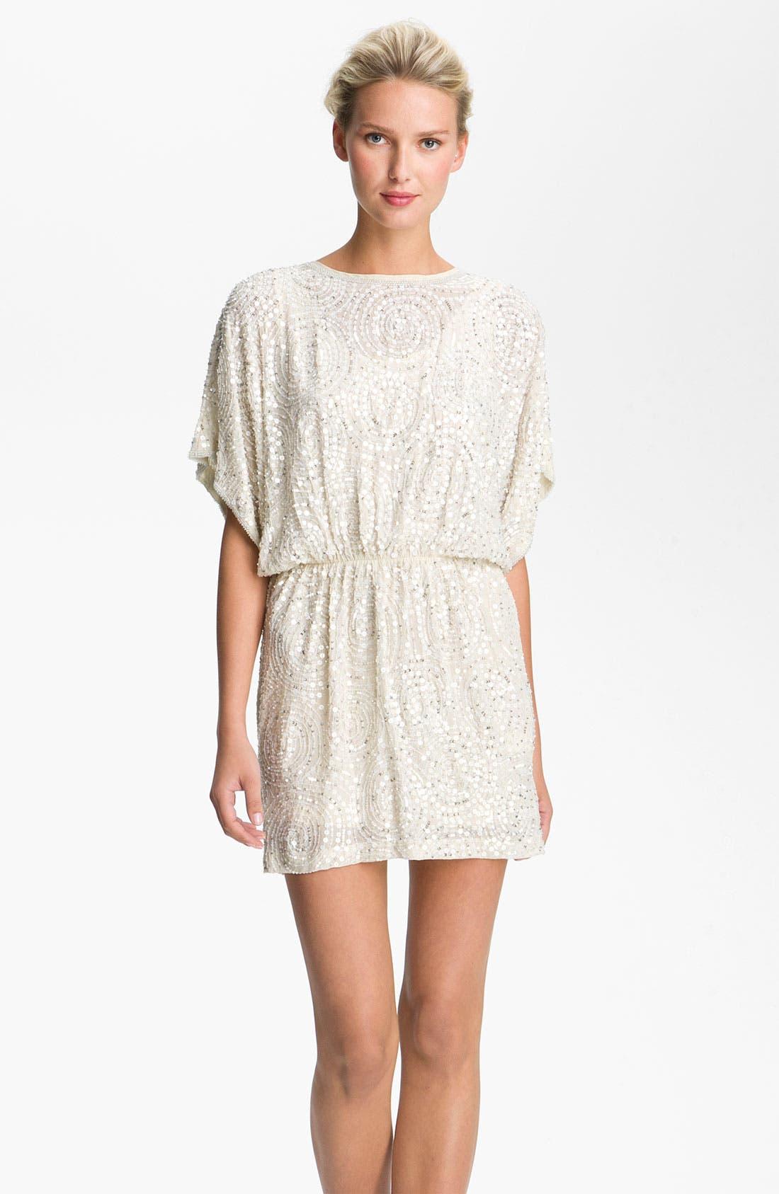 Main Image - Alexia Admor Sequined Silk Blouson Dress