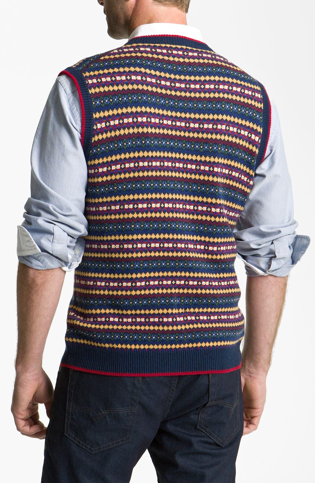Alternate Image 2  - Brooks Brothers Fair Isle Cotton & Wool Vest