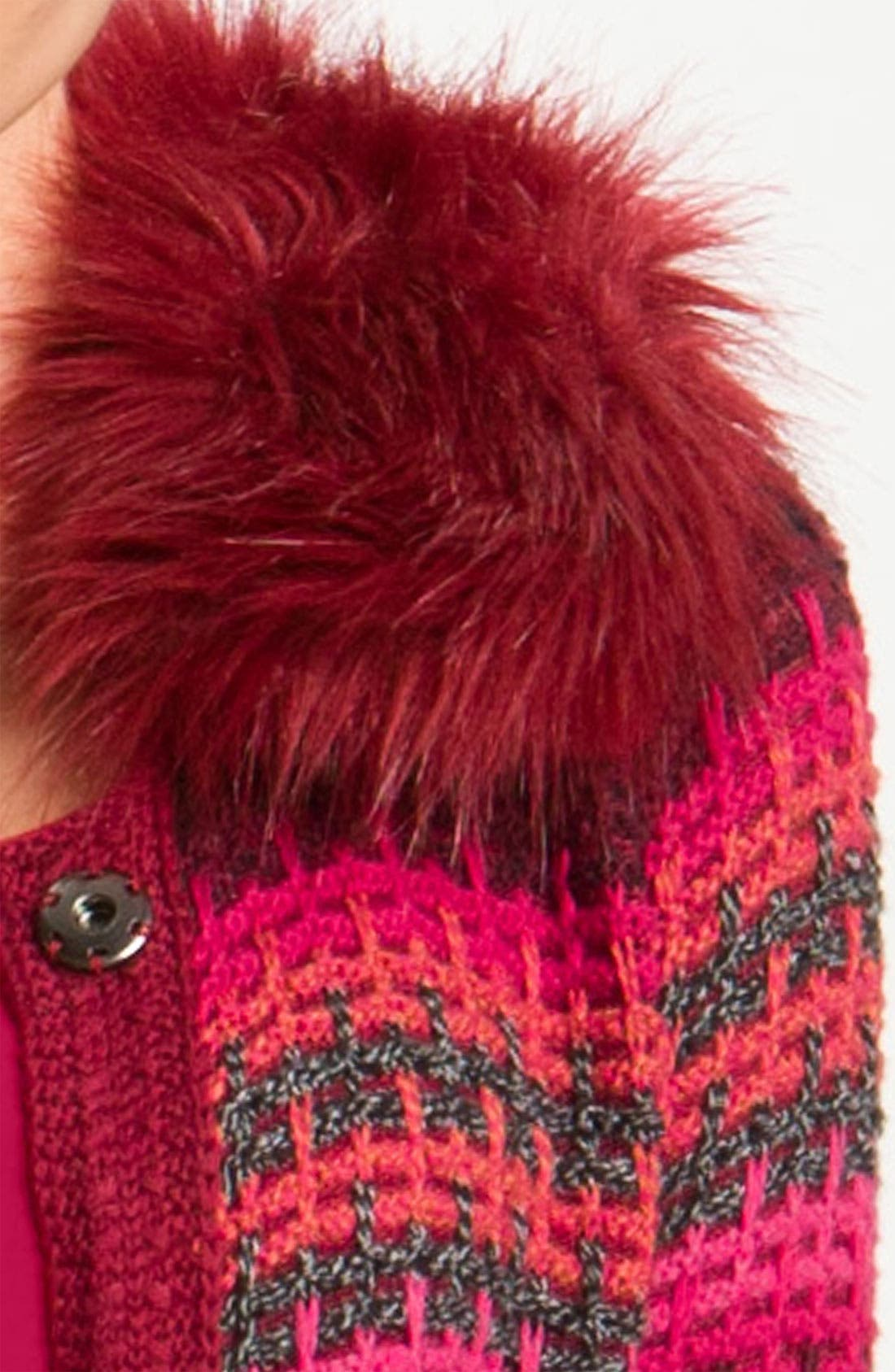 Alternate Image 4  - Nic + Zoe Stripe Cardigan with Detachable Collar