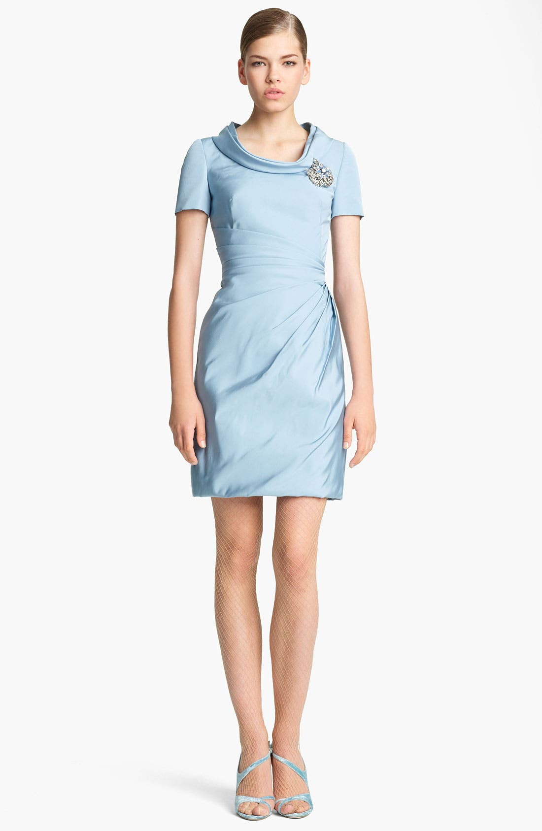 Main Image - Oscar de la Renta Silk Faille Dress