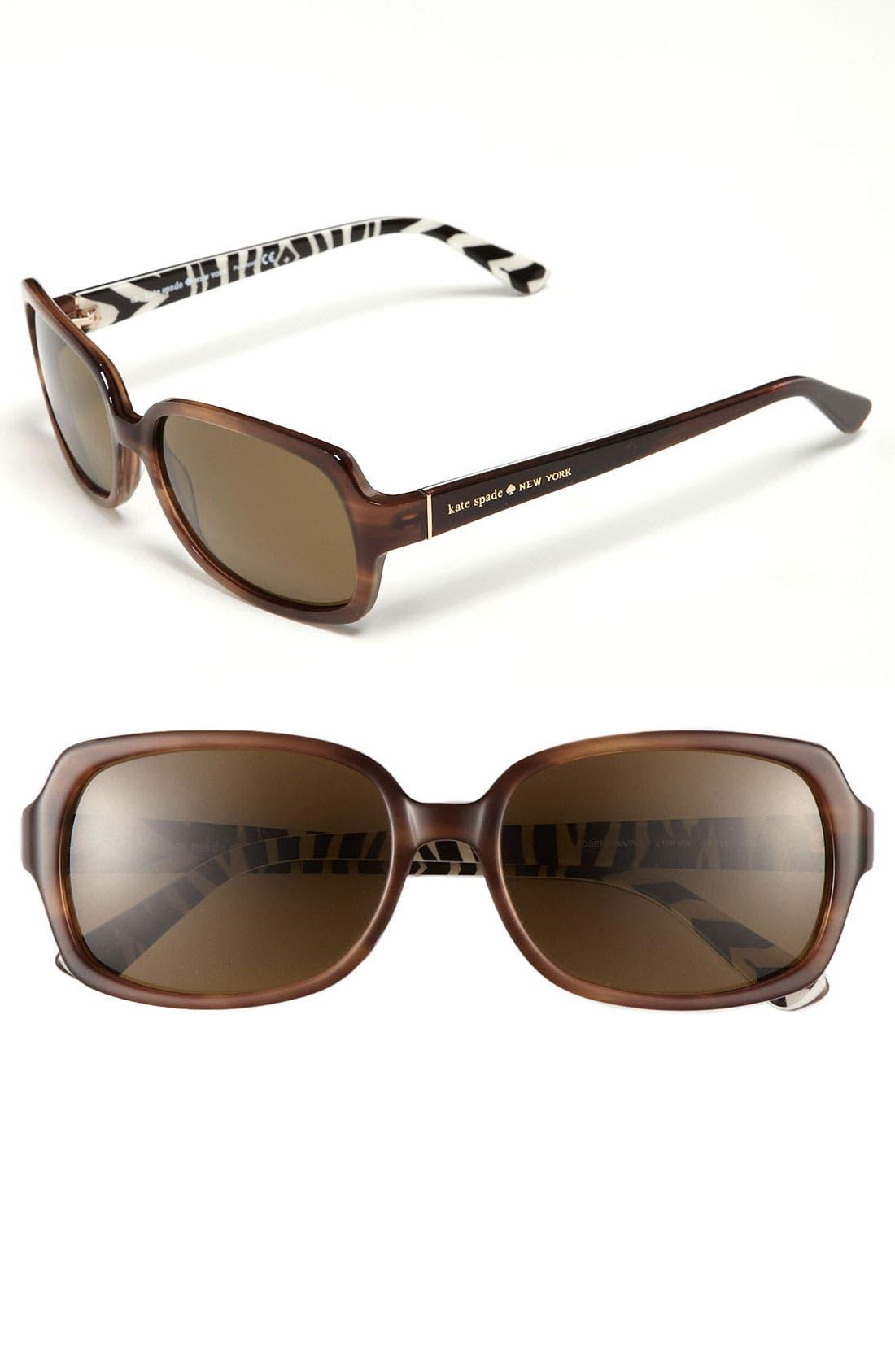 Alternate Image 1 Selected - kate spade new york 'josephina' 56mm polarized sunglasses