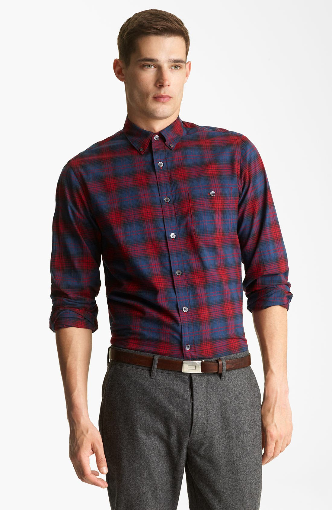 Alternate Image 1 Selected - Todd Snyder Plaid Sport Shirt
