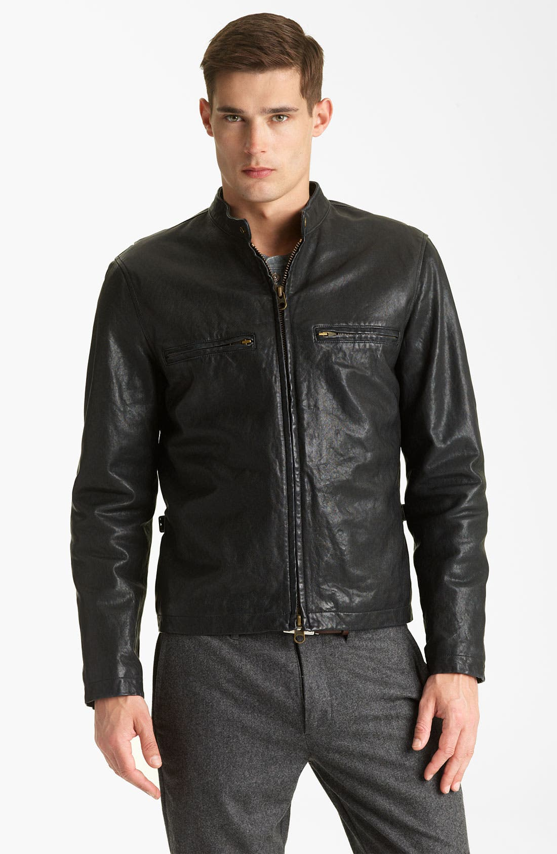 Alternate Image 1 Selected - Todd Snyder Leather Moto Jacket