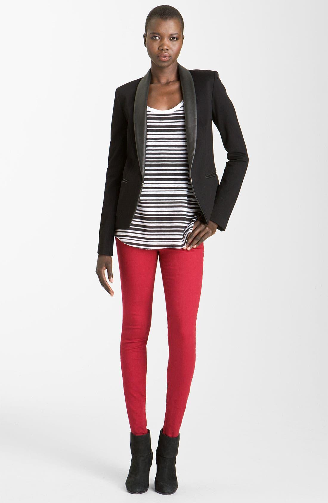 Alternate Image 1 Selected - rag & bone Leather Trim Tuxedo Jacket