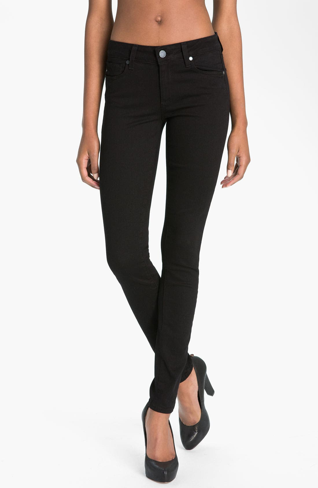 Alternate Image 1 Selected - Paige Denim 'Verdugo' Stretch Denim Leggings (Vinyl)
