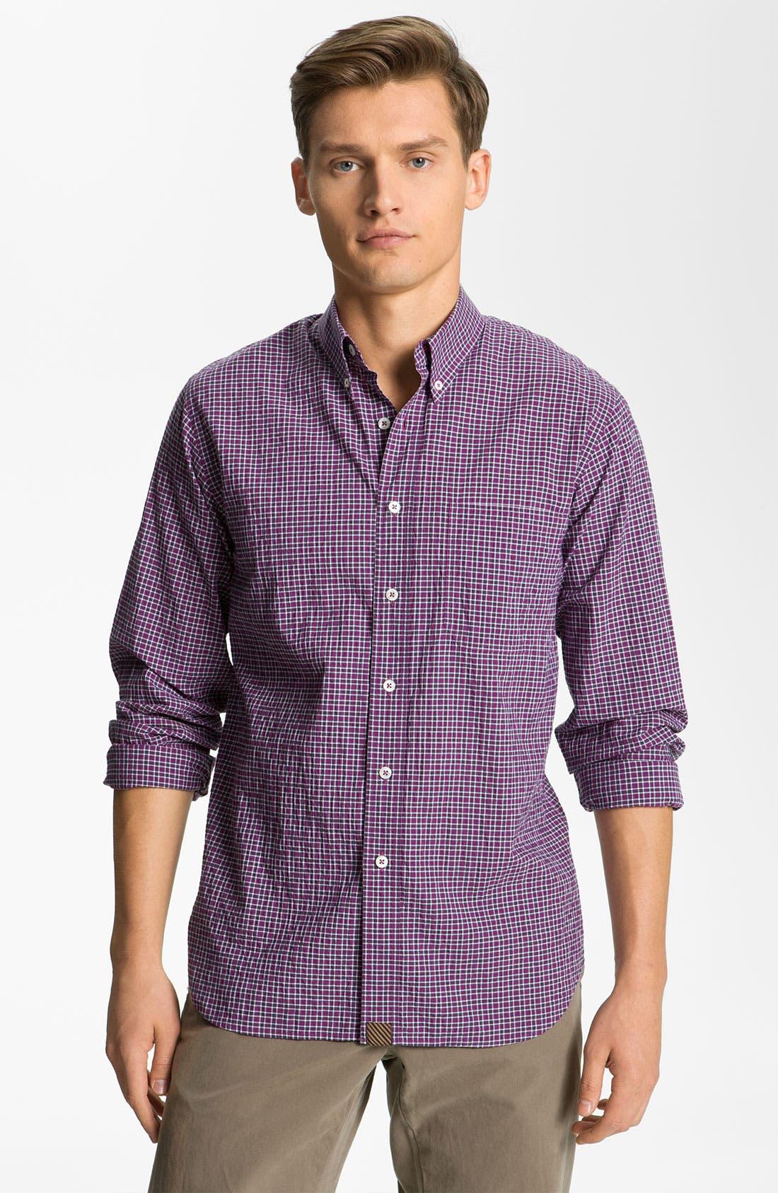 Alternate Image 1 Selected - Billy Reid 'Tuscumbia' Plaid Woven Shirt
