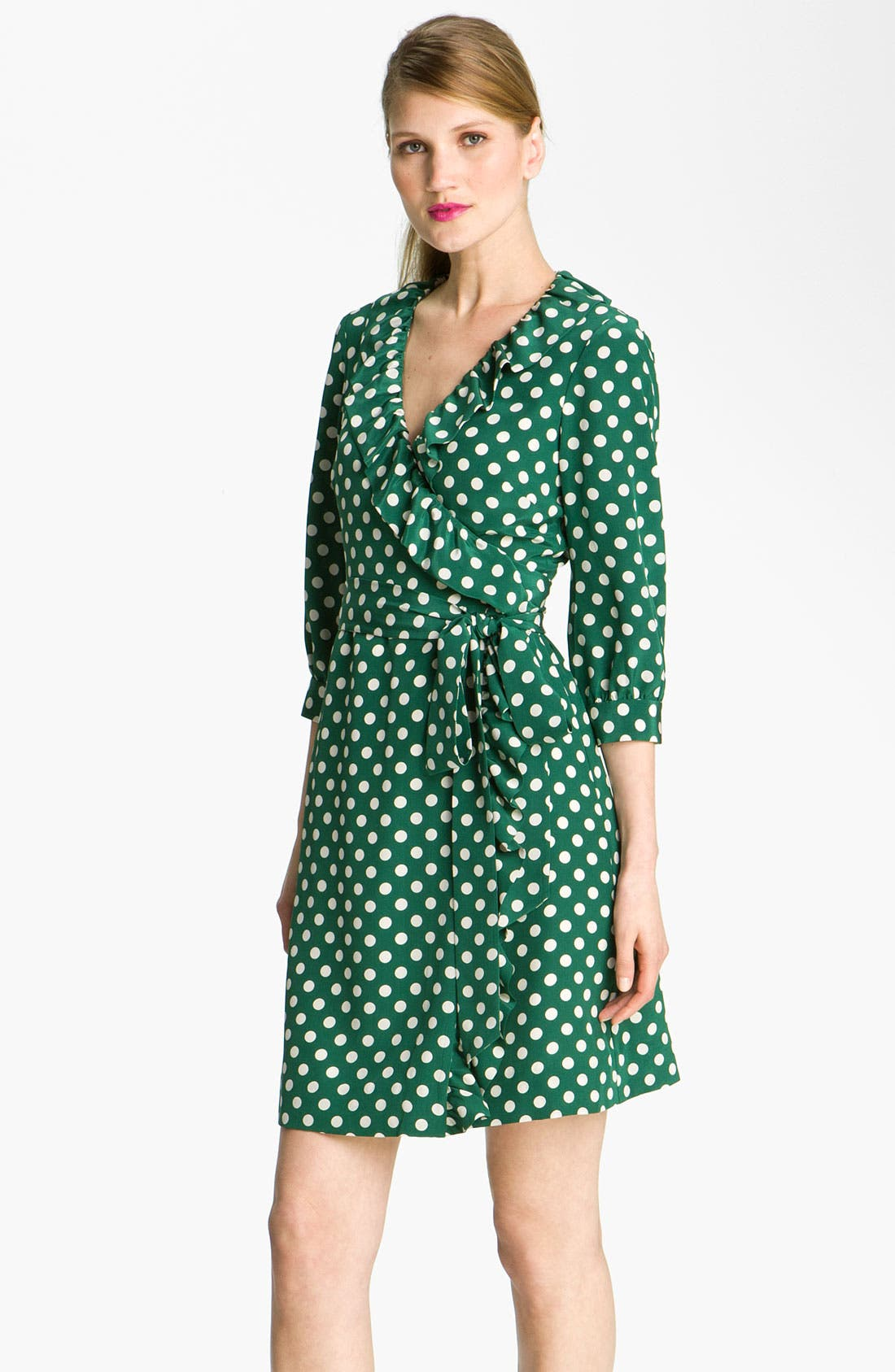 Alternate Image 1 Selected - kate spade new york 'daniella' polka dot silk wrap dress