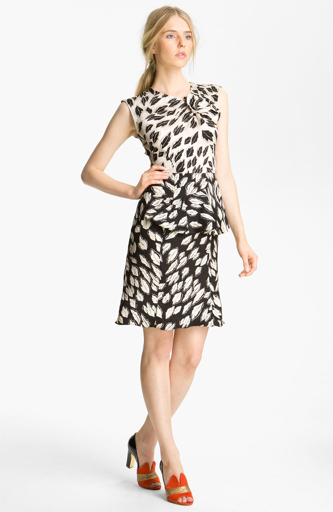 Alternate Image 1 Selected - Tracy Reese 'Falling Leaves' Peplum Dress