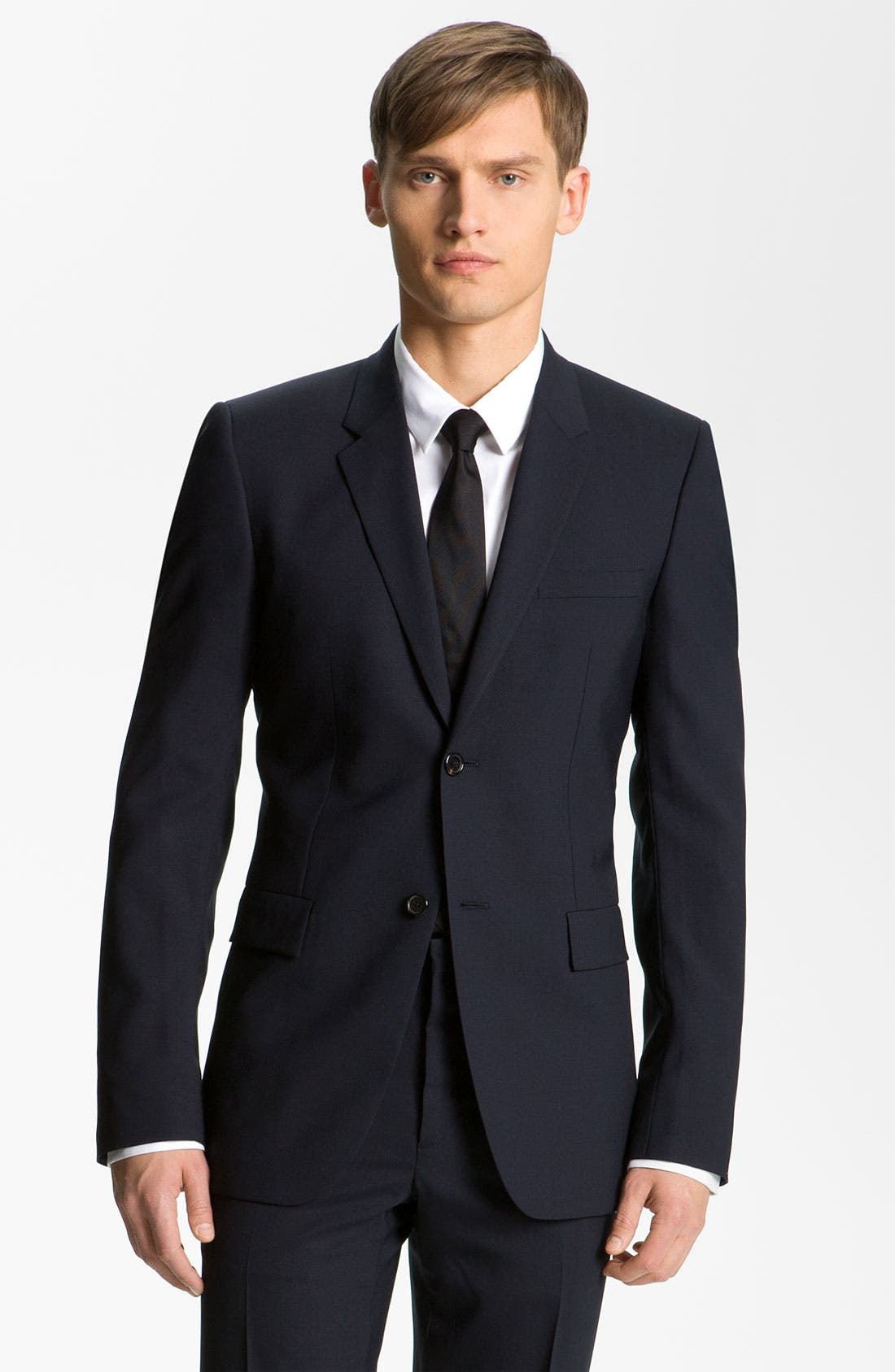 Stretch Wool Blend Suit,                         Main,                         color, Dark Blue