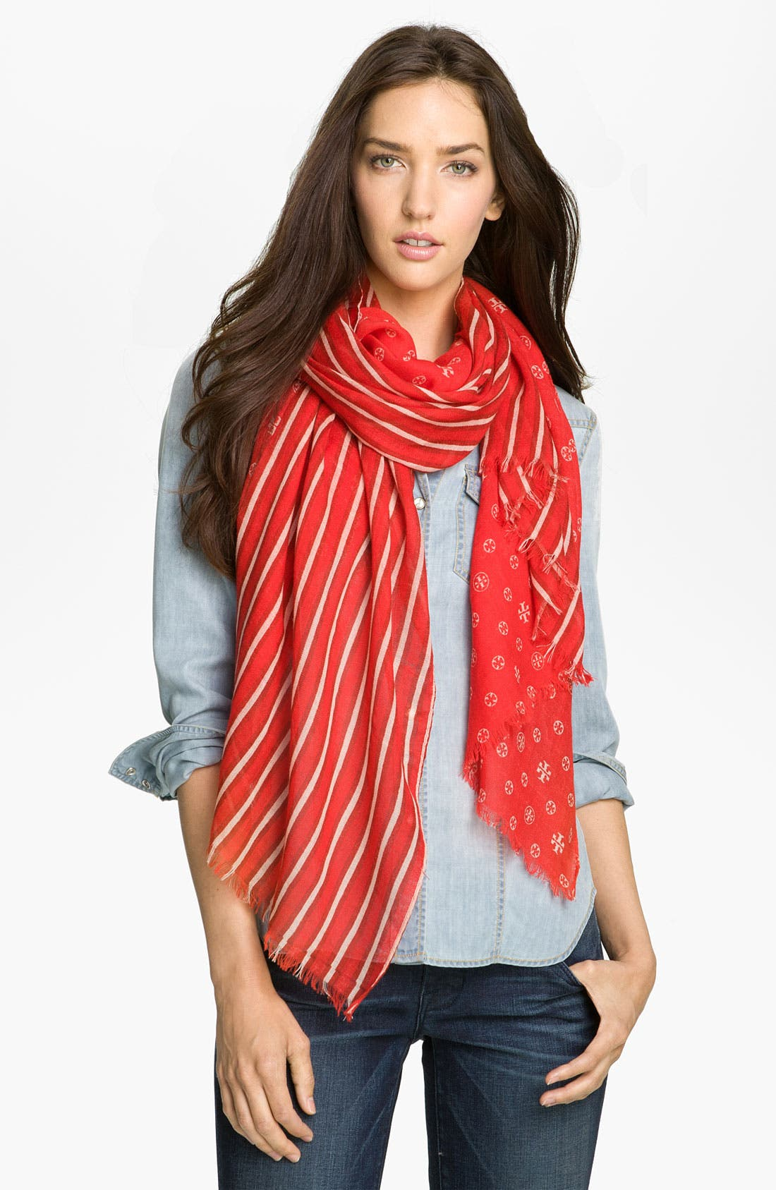 Alternate Image 1 Selected - Tory Burch Wool Scarf