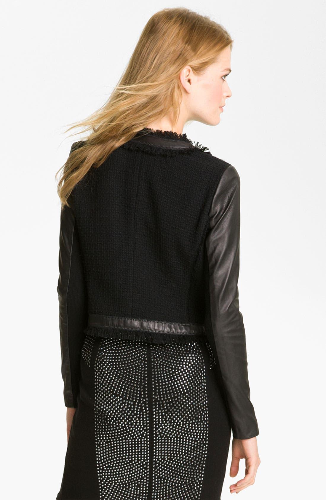 Alternate Image 2  - Rebecca Taylor Tweed & Leather Jacket