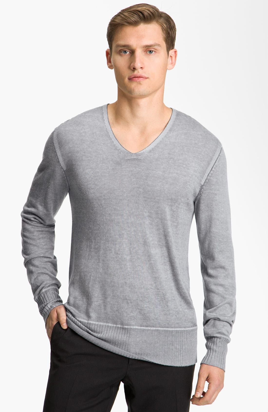 Alternate Image 1 Selected - John Varvatos Collection V-Neck Sweater