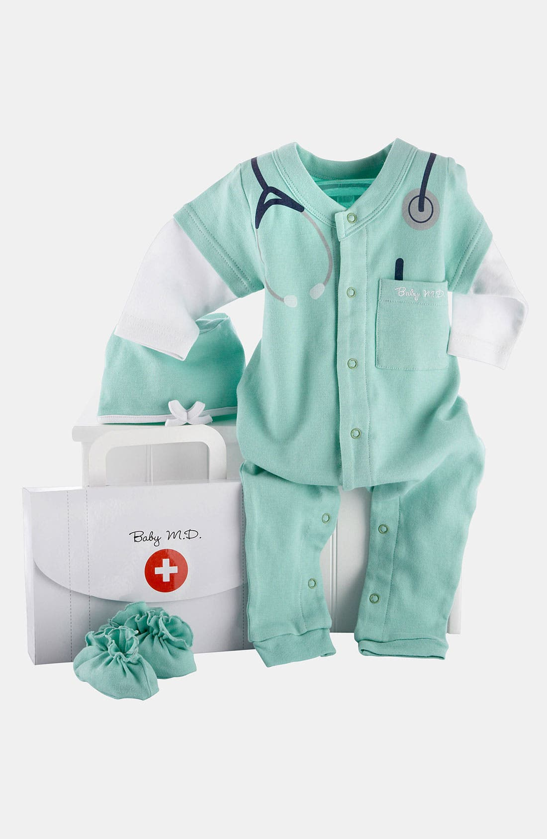 Alternate Image 2  - Baby Aspen 'Baby MD' Romper Set (Baby)