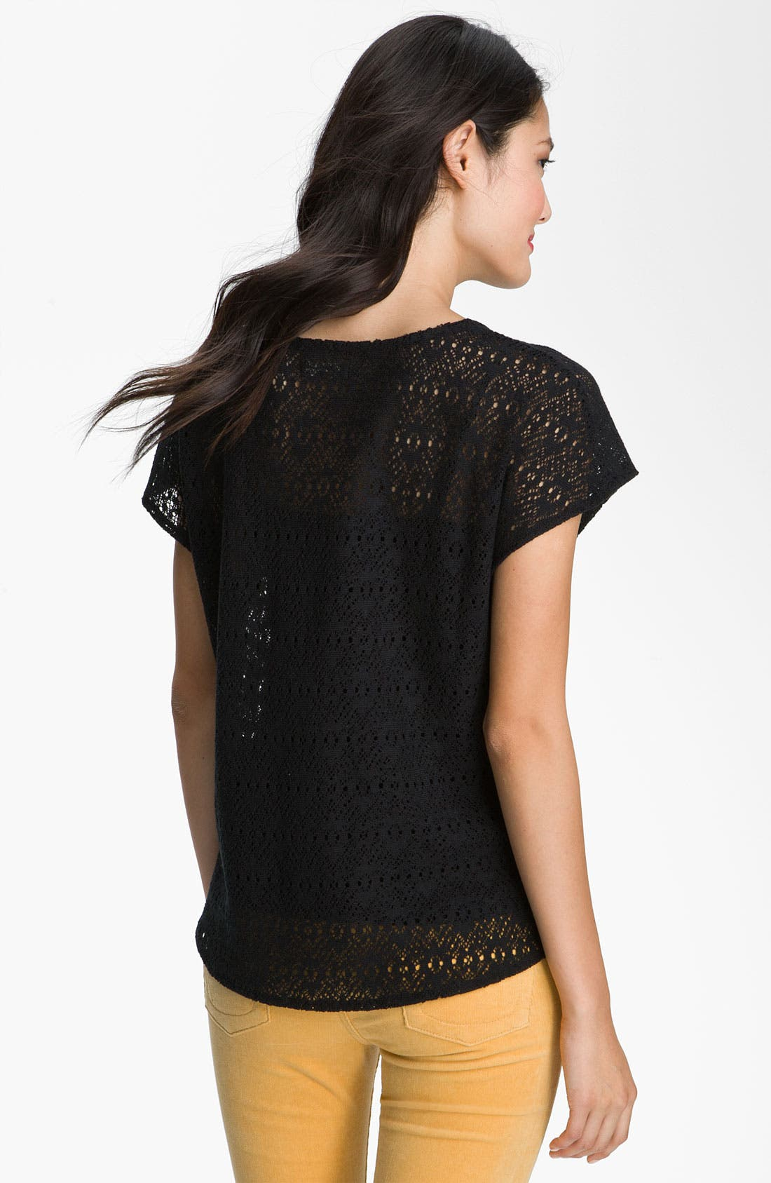 Alternate Image 2  - Lucky Brand 'Ginger' Sheer Lace Top (Special Purchase)