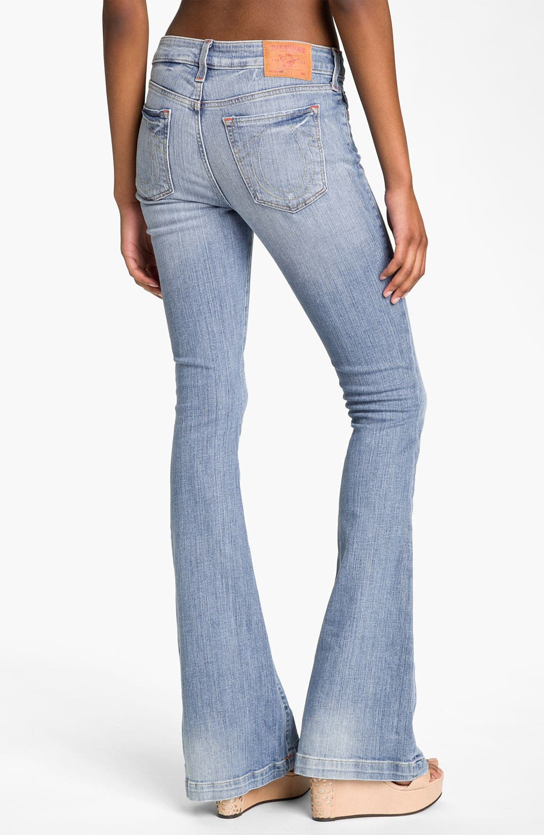Alternate Image 2  - True Religion Brand Jeans 'Emi'' Distressed Flare Leg Jeans (Medium Drifter)
