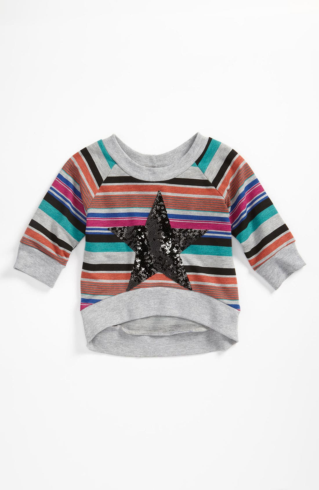 Alternate Image 1 Selected - Miken Clothing Sequin Pullover Top (Toddler)