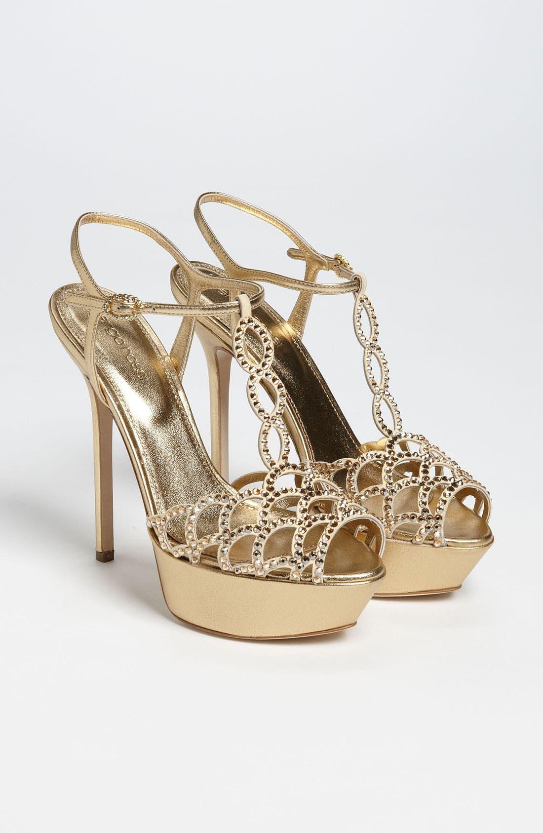 Alternate Image 4  - Sergio Rossi Crystal Platform Sandal