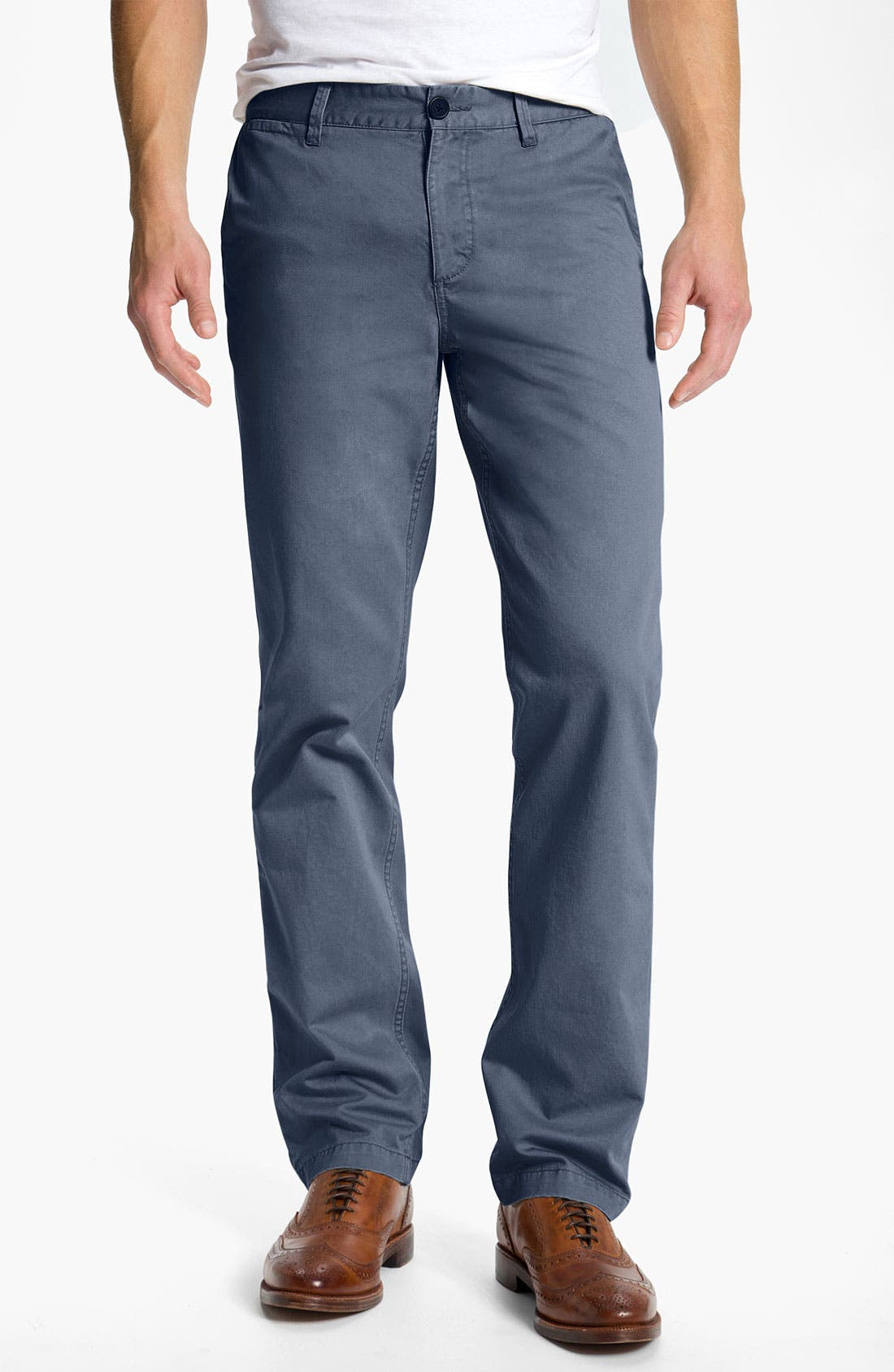 Main Image - 1901 Cotton Twill Straight Leg Chinos