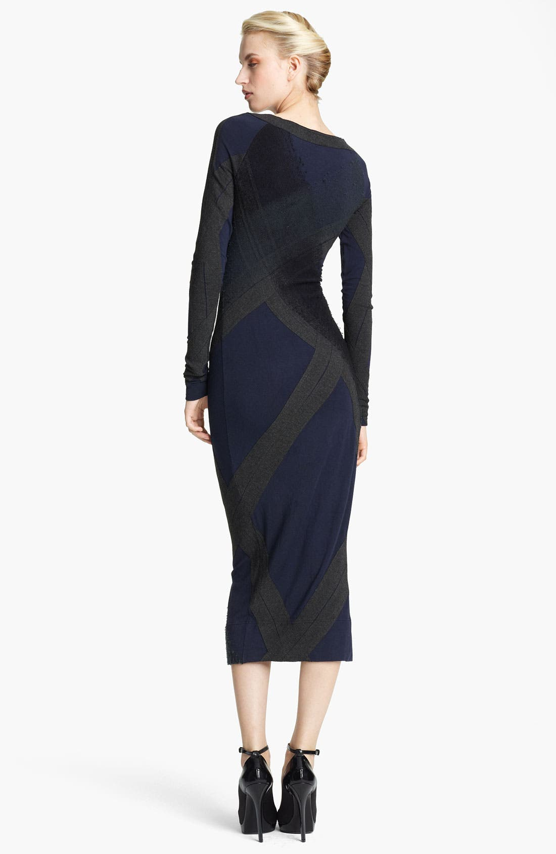 Alternate Image 2  - Donna Karan Collection Needle Punch Jersey Dress