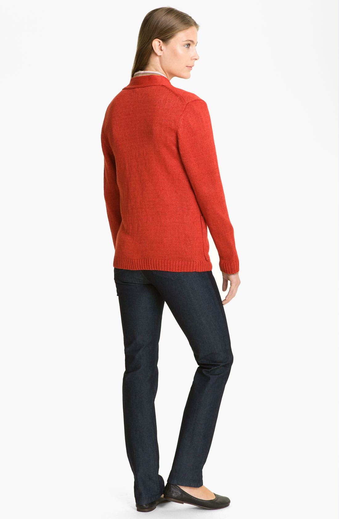 Alternate Image 5  - Lafayette 148 New York 'Canapa Jeans' Cardigan