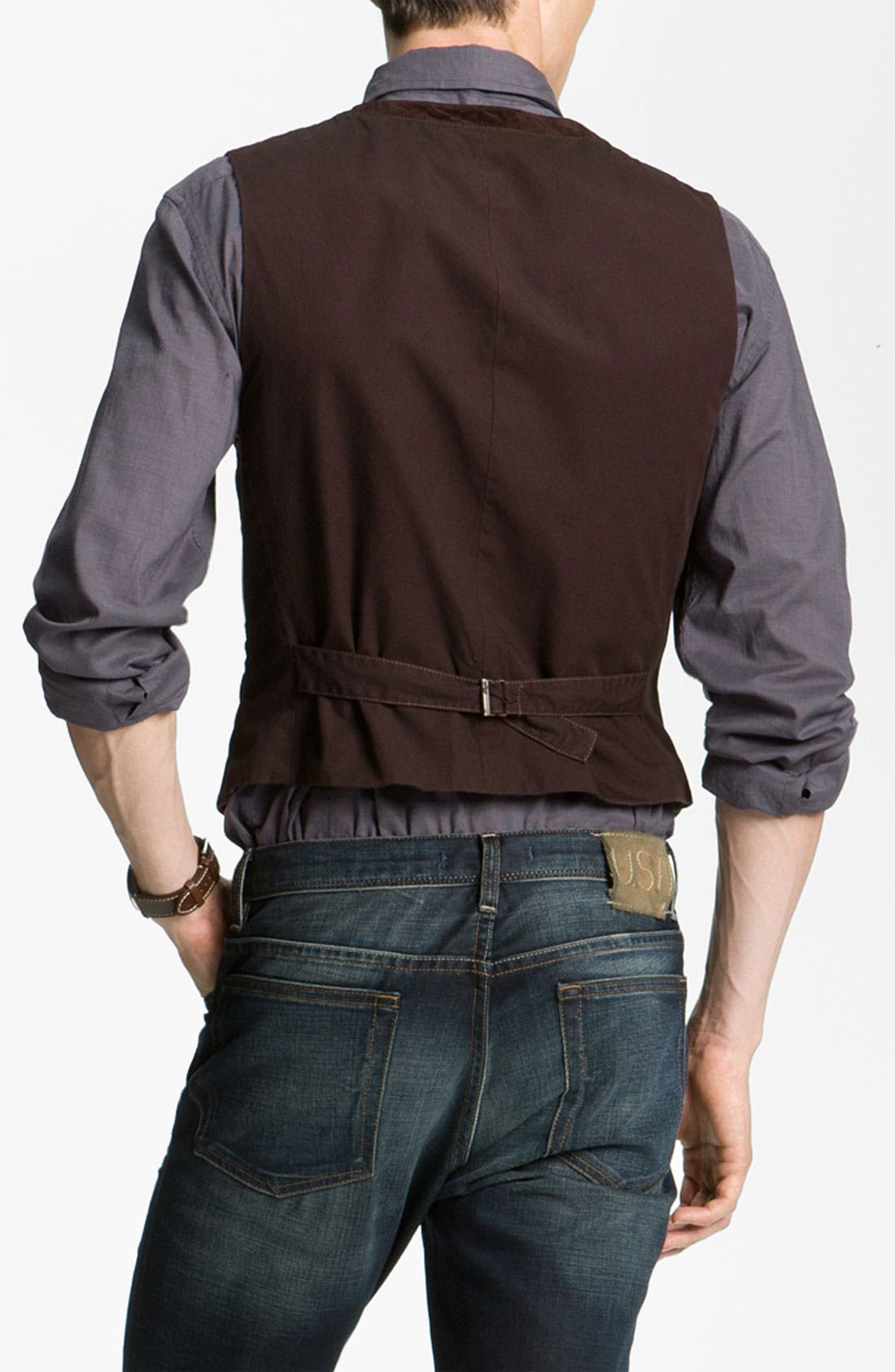 Alternate Image 2  - John Varvatos Star USA Zip Pocket Vest