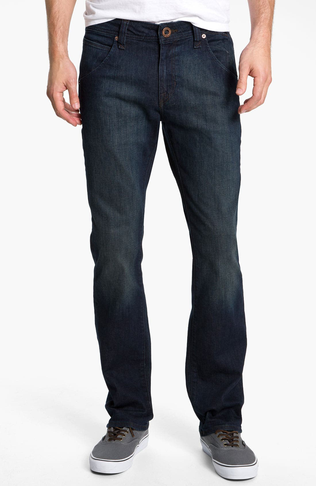 Alternate Image 2  - Volcom 'Nova' Slim Straight Leg Jeans (Dark Room Stretch) (Online Exclusive)