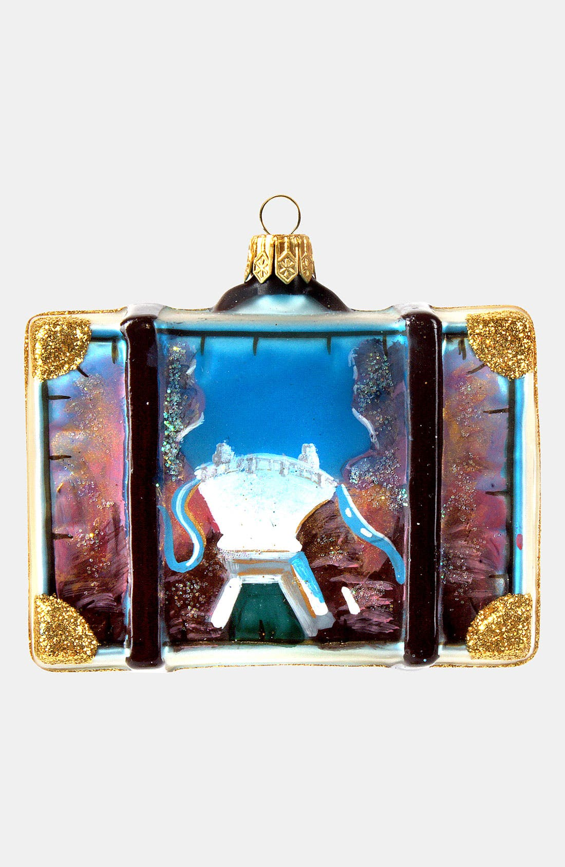 Alternate Image 2  - Nordstrom at Home 'Las Vegas' Glass Suitcase Ornament