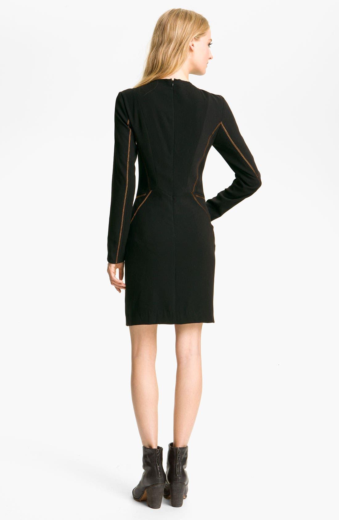 Alternate Image 2  - rag & bone 'Raj' Metallic Seam Dress