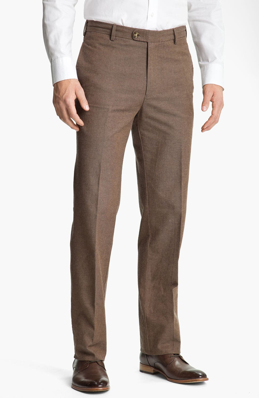 Alternate Image 1 Selected - Peter Millar Flat Front Cotton Trousers