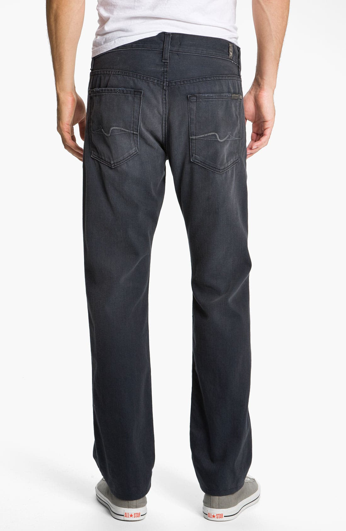 Main Image - 7 For All Mankind® Standard Straight Leg Jeans (Grey Harbor)