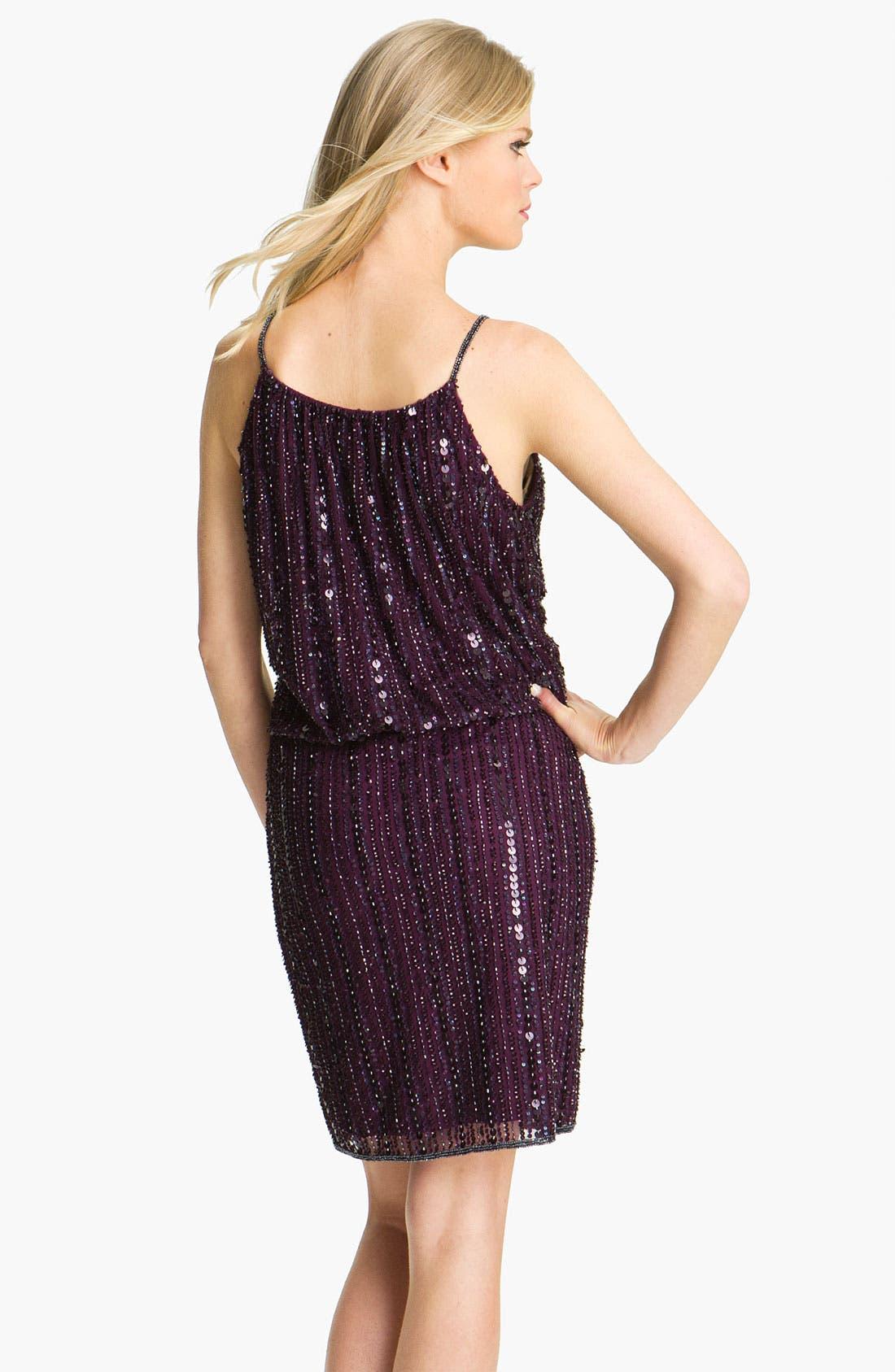 Alternate Image 2  - Pisarro Nights Sequin & Bead Blouson Dress