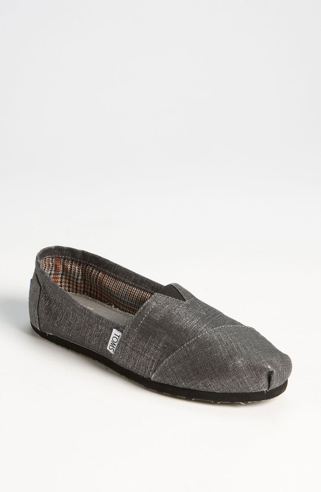 Alternate Image 1 Selected - TOMS Metallic Linen Slip-On (Women)