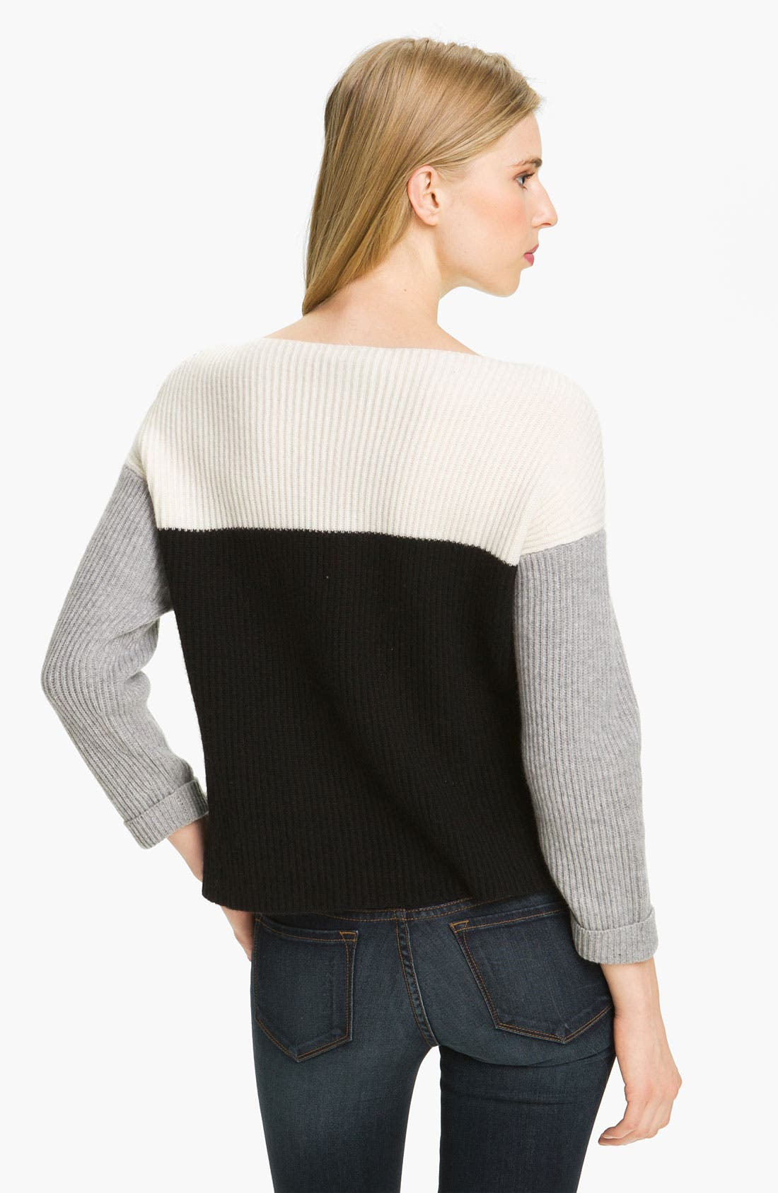 Alternate Image 2  - autumn cashmere Colorblock Cashmere Pullover