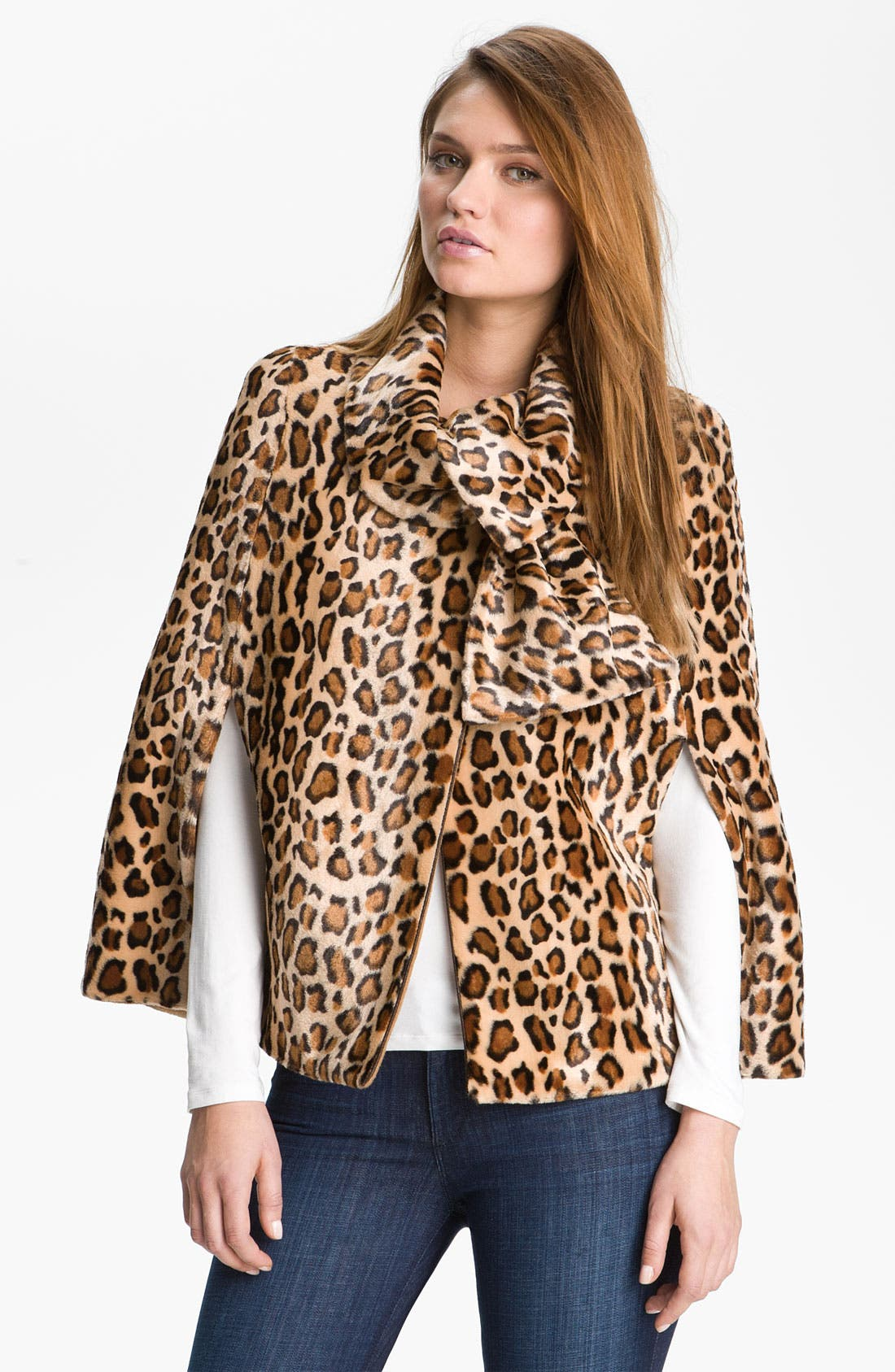 Alternate Image 1 Selected - Mcginn Leopard Print Capelet