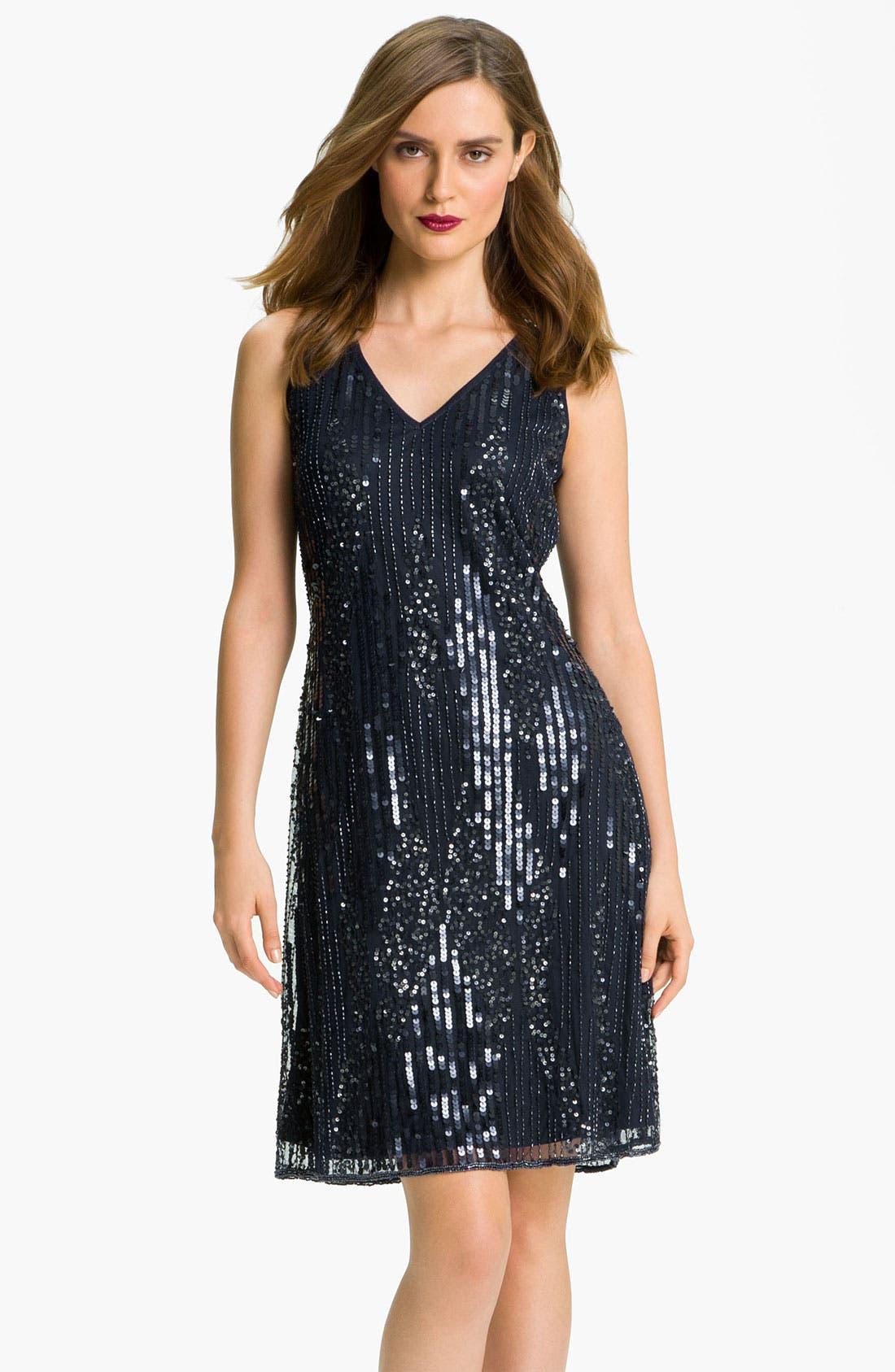 Alternate Image 2  - Patra Embellished Double V-Neck Mesh Dress & Sheer Bolero