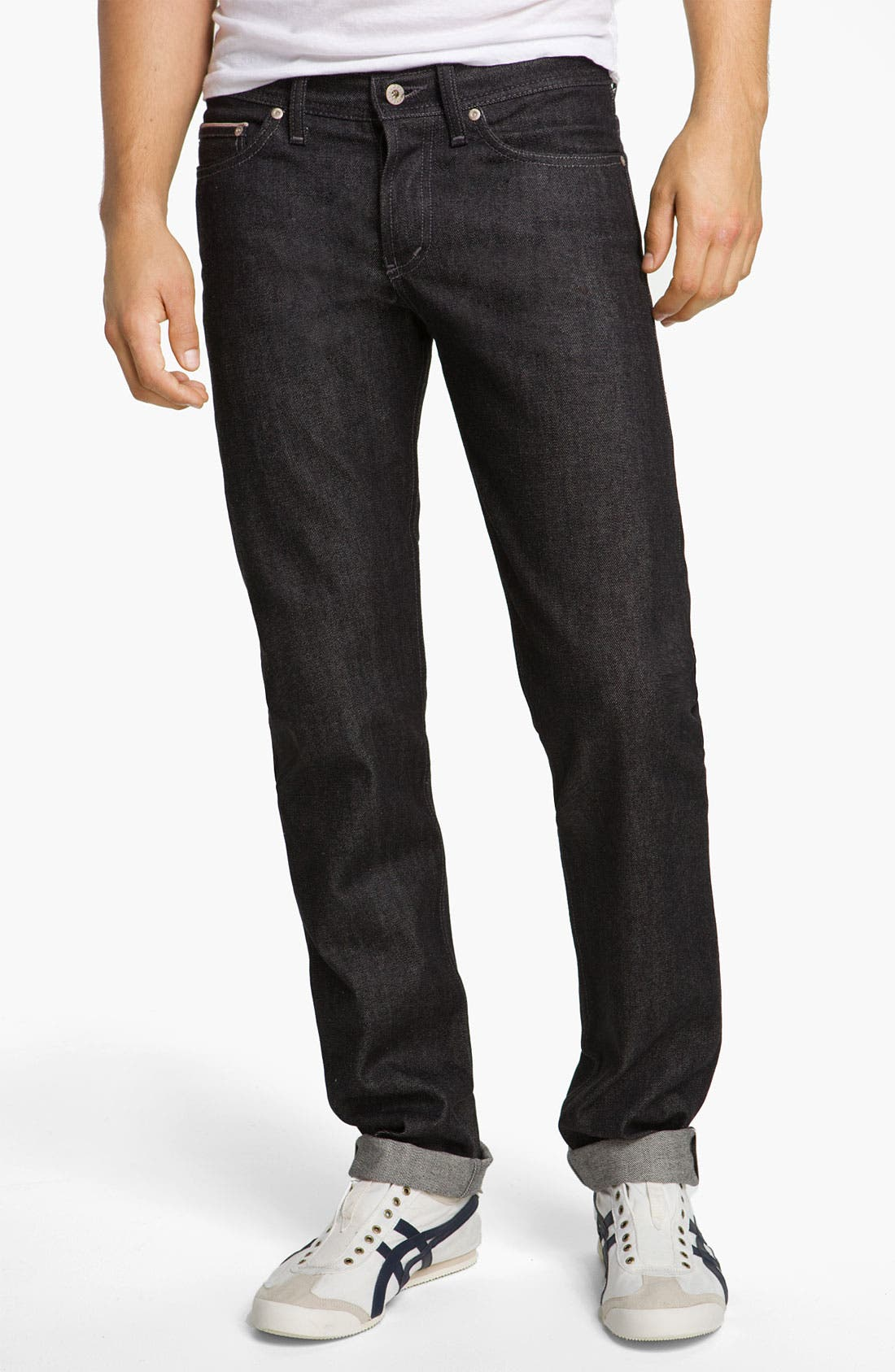 Alternate Image 2  - Naked & Famous Denim 'Weird Guy' Slim Fit Selvedge Jeans (Black)