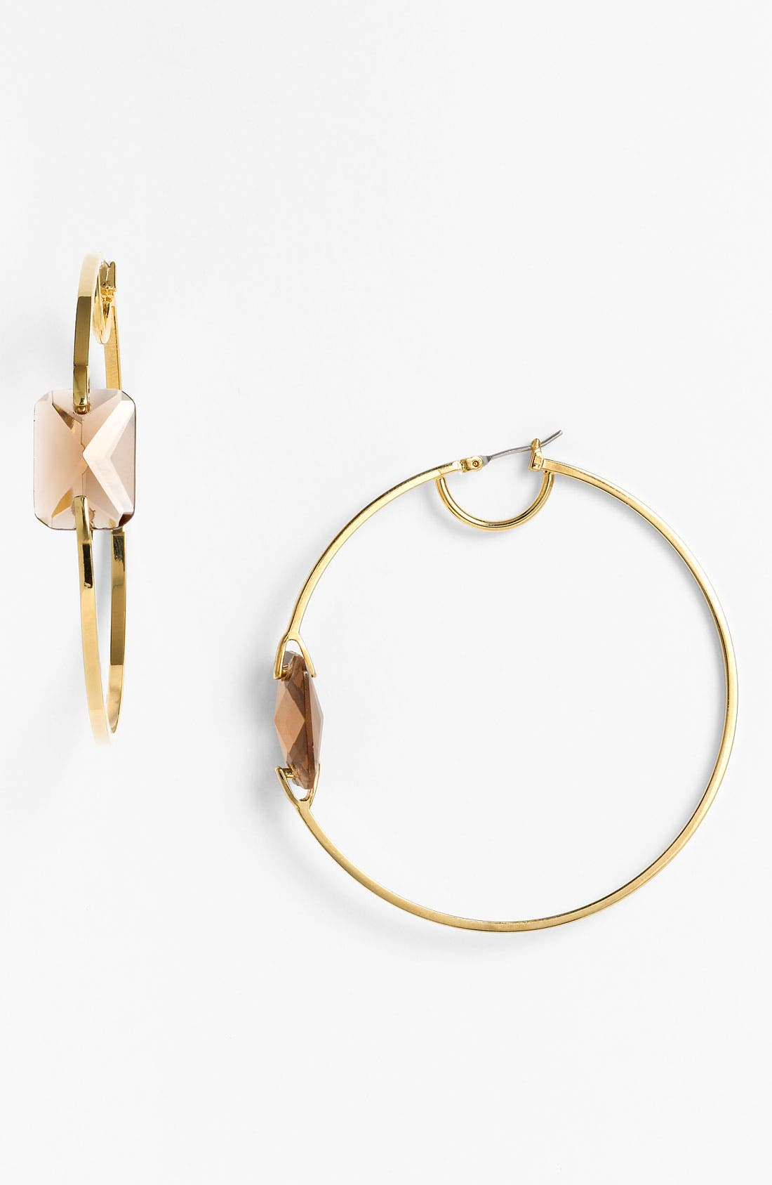 Alternate Image 1 Selected - Vince Camuto 'Basics' Stone Hoop Earrings