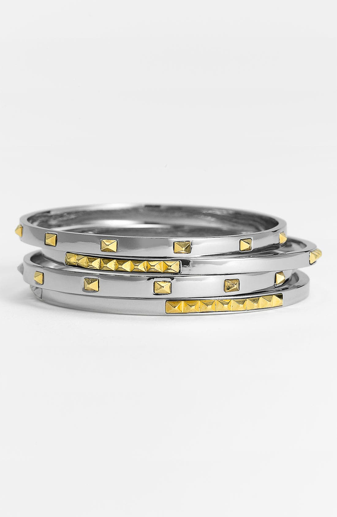 Studded Bangles,                         Main,                         color, Silver/ Gold