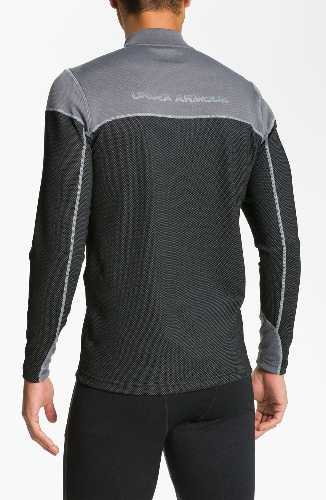Alternate Image 2  - Under Armour 'CG Thermo' Fitted Quarter Zip Running Top