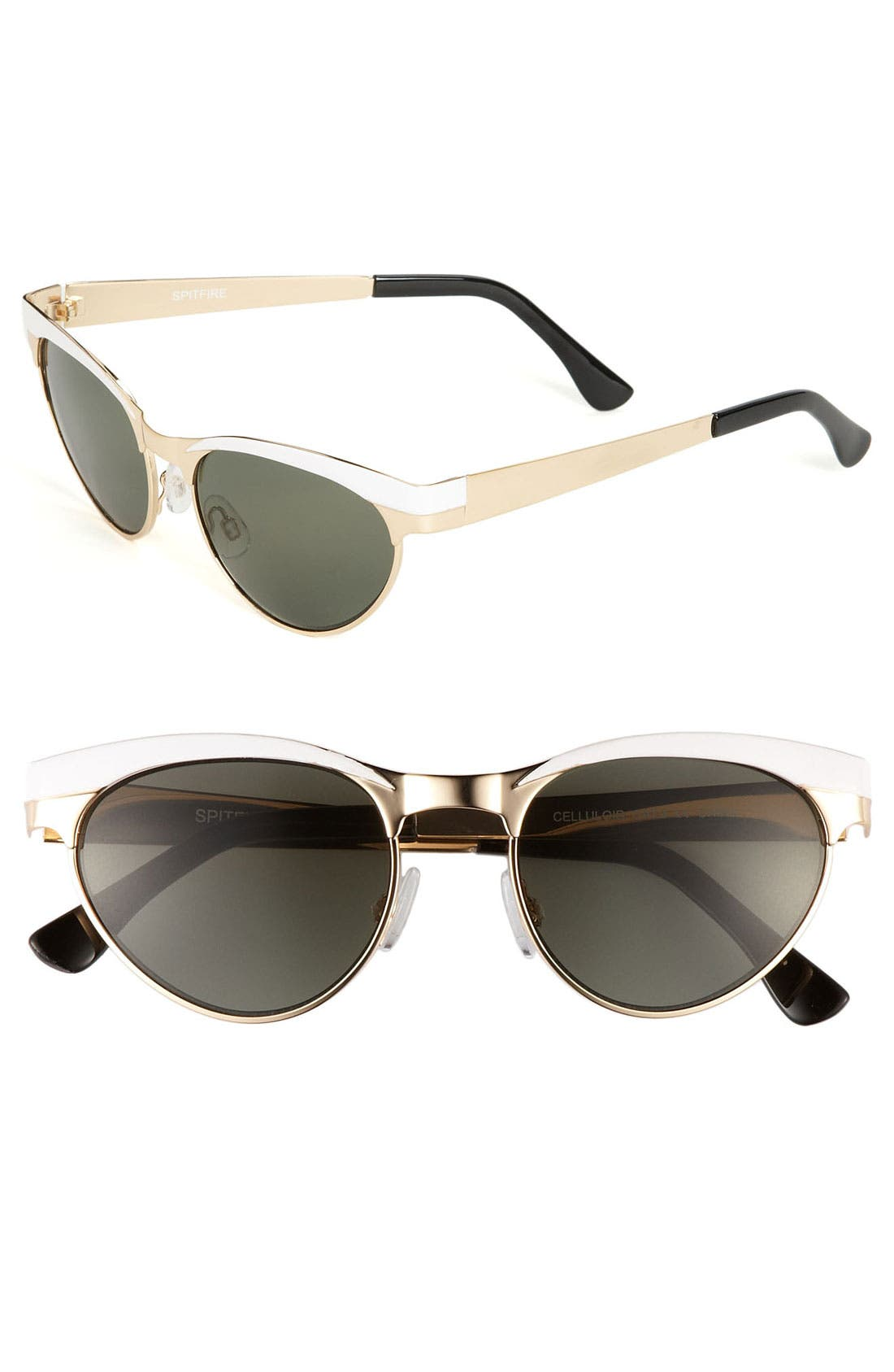 Main Image - Spitfire Cat's Eye Metal Sunglasses