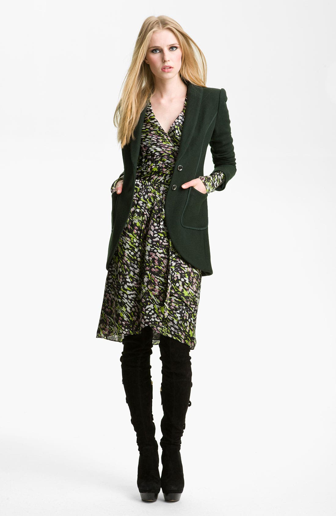 Alternate Image 1 Selected - Rachel Zoe 'Kenny' Cutaway Jacket