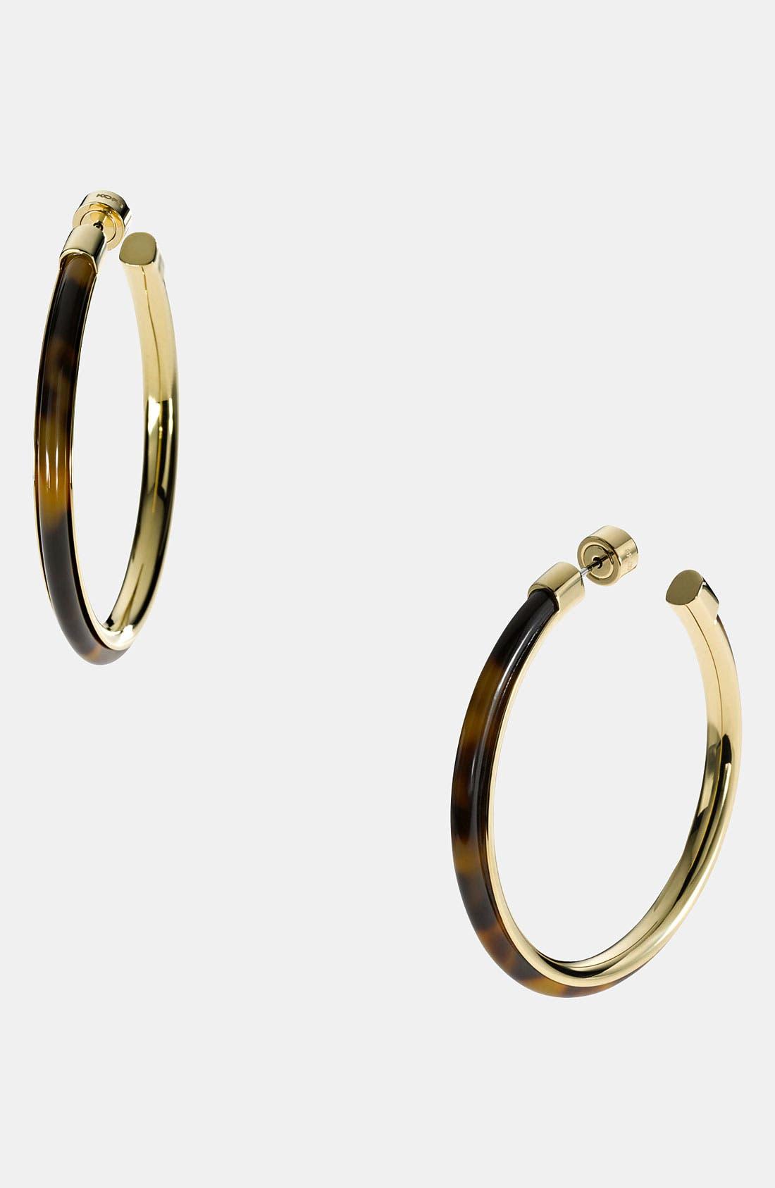 Alternate Image 1 Selected - Michael Kors 'Heritage' Large Hoop Earrings
